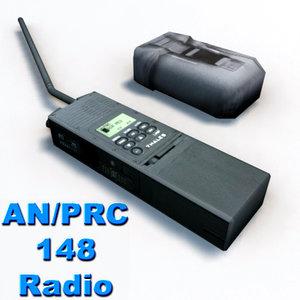 mbitr prc-148 radio military 3d model