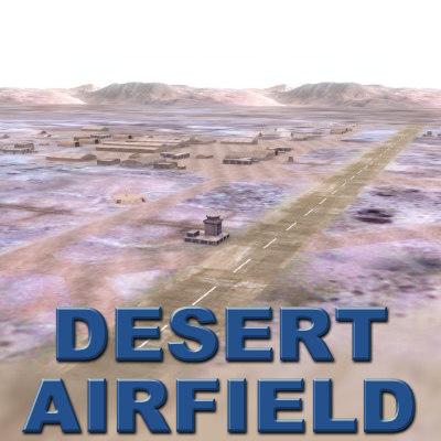3d desert airfield terrain