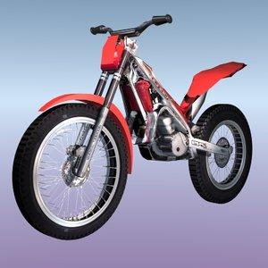 3d model set 3 trial bikes