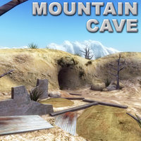 3dsmax mountain cave