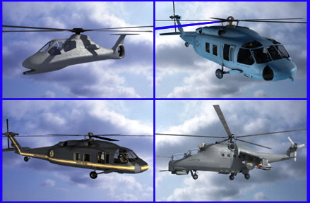 3d helicopter airport hangers model