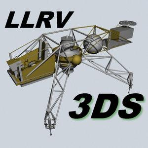 flying bedstead llrv 3d model