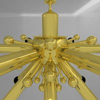 gold lamp 3d model