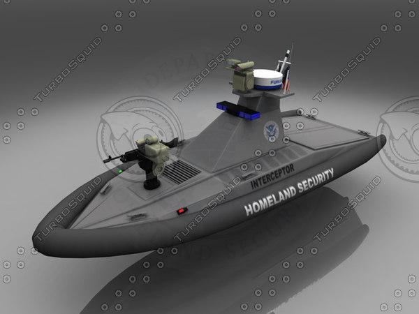 homeland security patrol boat c4d