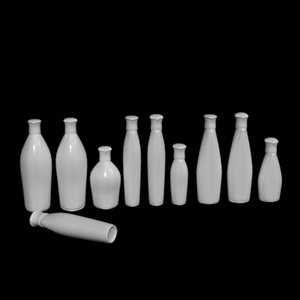 bottles containers 3d obj