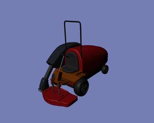 3d lawnmower football stadiums model