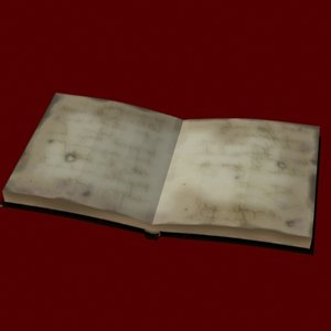 old book - 3d model