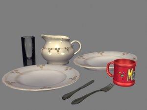 maya silverware plates