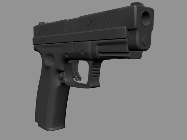 3d springfield armory xd 45 model