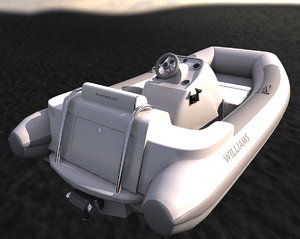 turbo jet tender 3d model