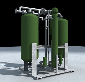 plant air dryer industrial 3d model