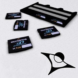 xd pocket card 3d max