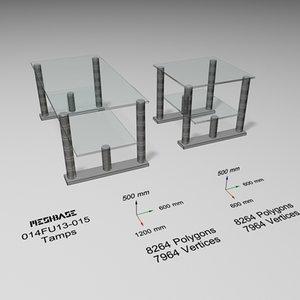 3d model glass table -