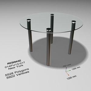 maya dining glass -