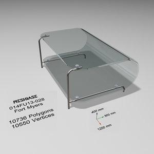 3d table - trash model