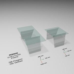 tables - trash 3d model