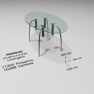 3d model table glass -