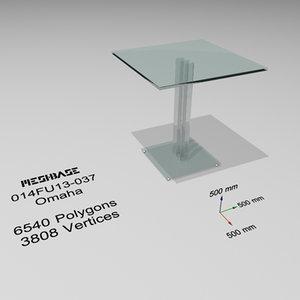 3d table glass - model