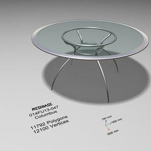 maya dining table glass -