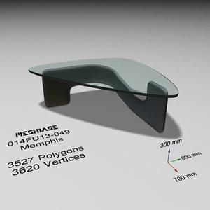 3d designer table glass -