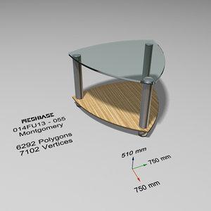 3d table - trash