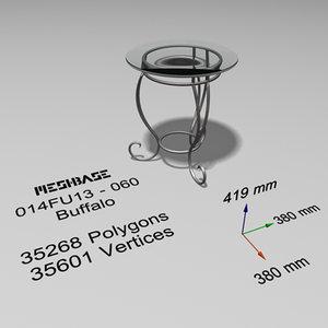 table - trash 3d model