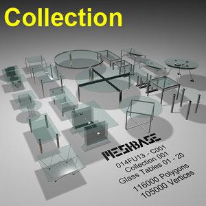glass tables - 3d x