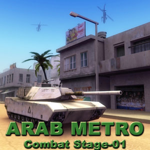 arab city street combat 3d obj