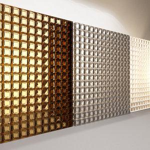 glass wall blocks 3D model