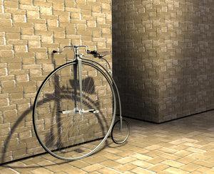 vintage wheel 3d model