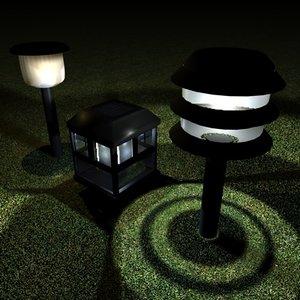 3ds max solar lights lantern