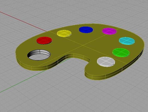free color pallete 3d model