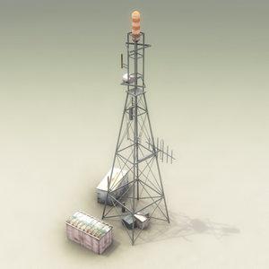 3d communications tower model
