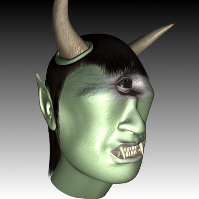 fantasy cyclops head 3d model