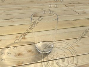 3d glass shader model