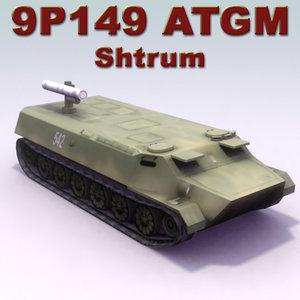 3d model 9p149 shturm vehicle mtlb