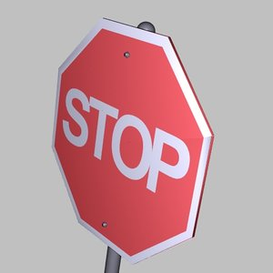 3ds max stop sign