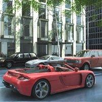 archviz cars 3d model