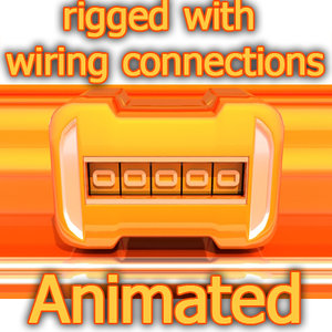 3d counters rigged wire model