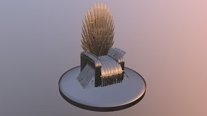 3D iron throne model