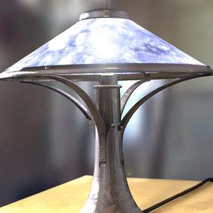 3d lwo lamp lightwave