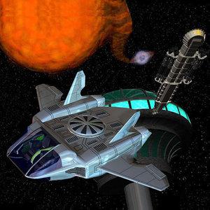 futuristic vtol spacecraft pzvtol 3d model