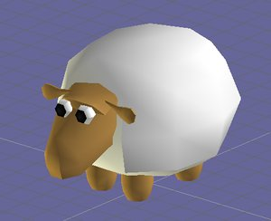 funny cartoon sheep 3d model
