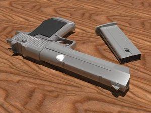 desert eagle pistol 3d model