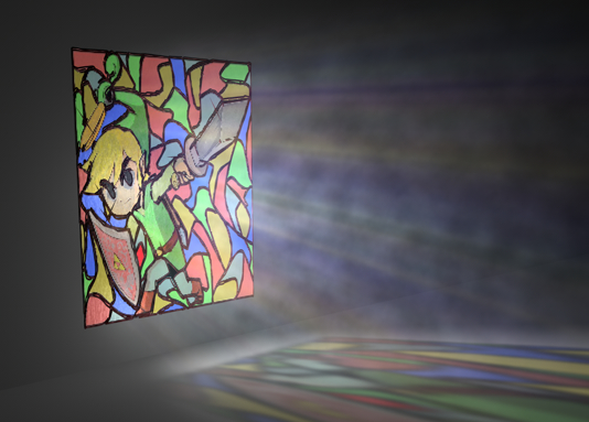 3d stained glass window model