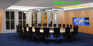 3d conference room table chairs