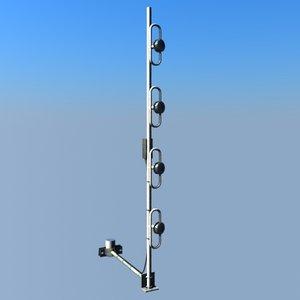 tetra antenna vertical stack 3ds