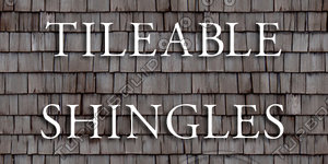 Tileable wooden roof shingles