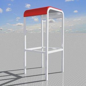 barstool foster designed 3d model