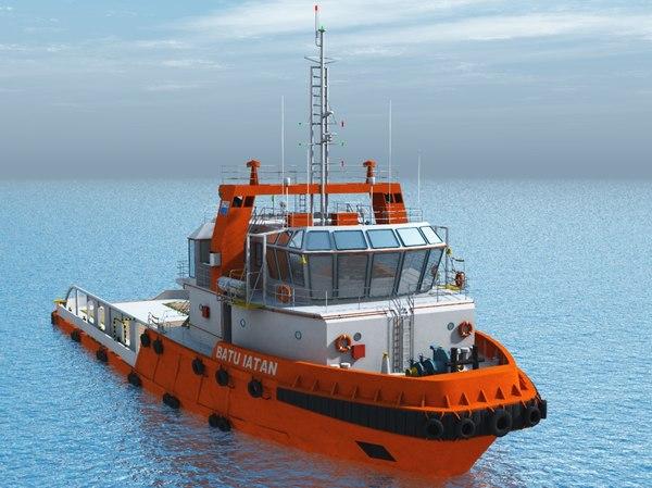 45m tugboat 3d max